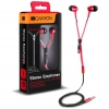 Слушалки тапи CANYON CNS-TEP1R zipper cable earphones metal hous
